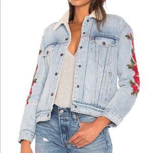 Levi's ex boyfriend denim jacket w embroidery